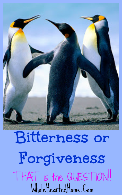 Bitterness or Forgiveness? THAT is the Question
