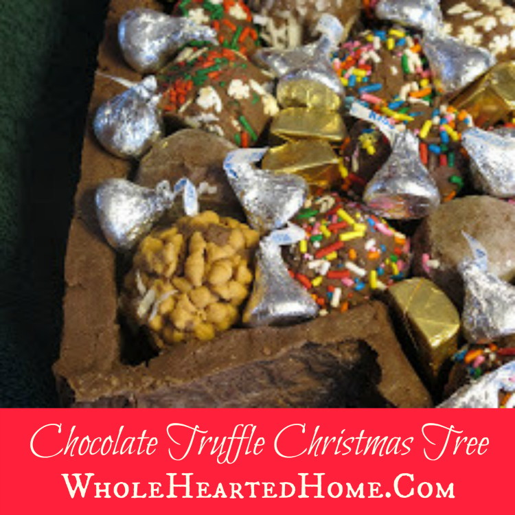Chocolate Truffle Christmas Tree + WholeHearted Wednesdays #70!!