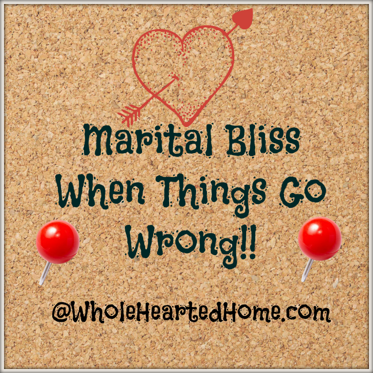 Marital Bliss When Things Go Wrong + Giveaway + WholeHearted Wednesday #73