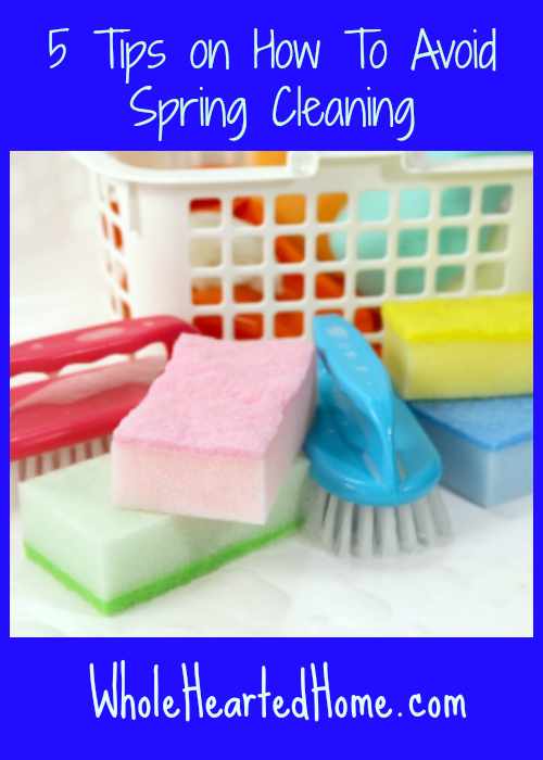 5 Tips on How To Avoid Spring Cleaning + WholeHearted Wednesdays #83