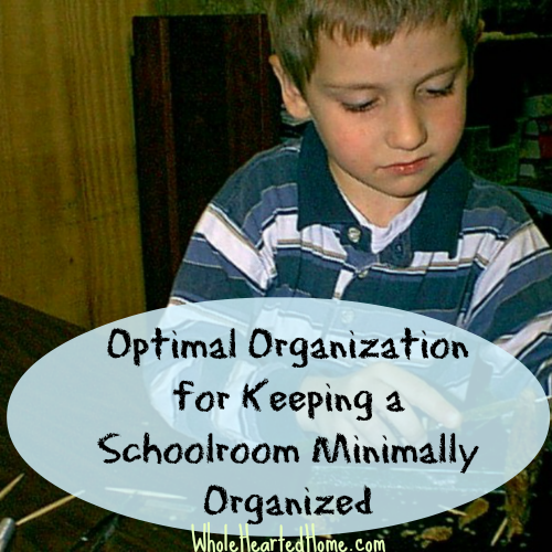 Optimal Organization for Keeping a Schoolroom Minimally Controlled