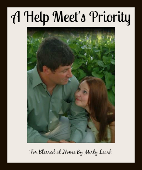 A Help Meet's Priority {Blessed At Home #41}