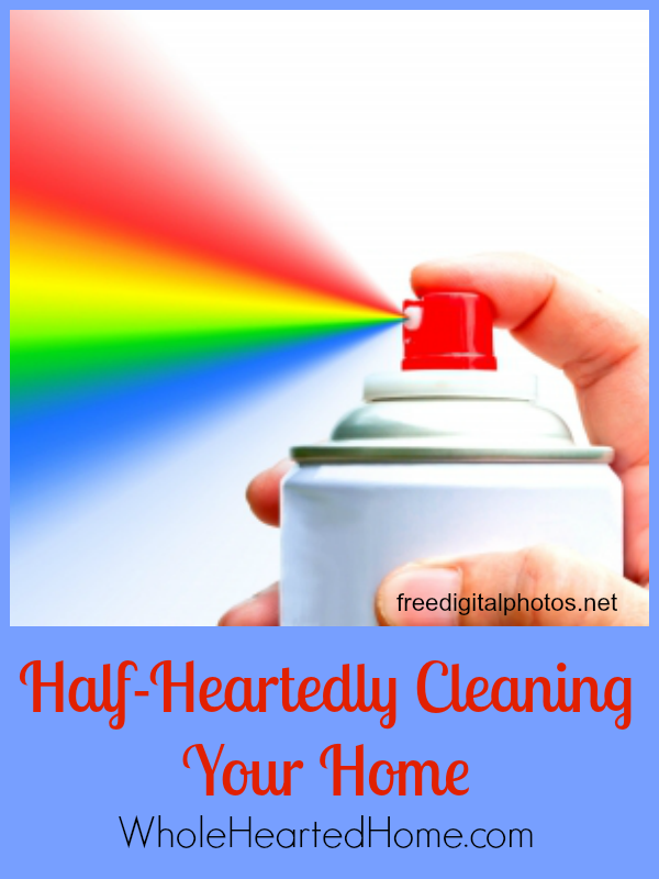 Half-Heartedly Cleaning Your Home