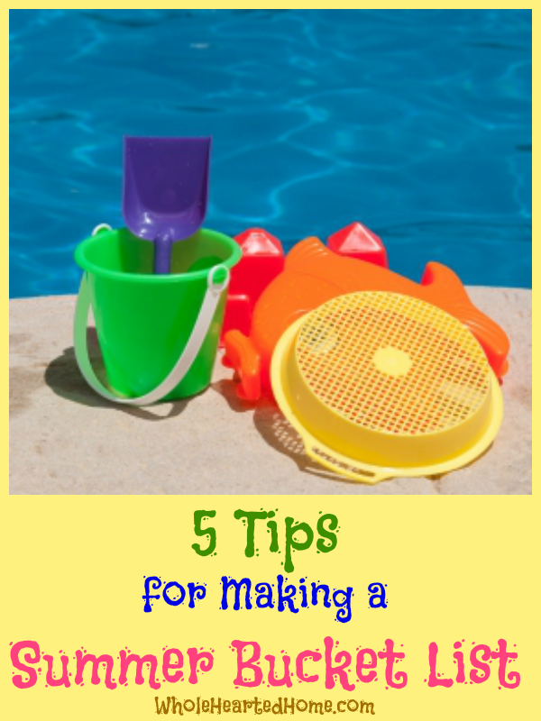 5 Tips for Making a Summer Bucket List