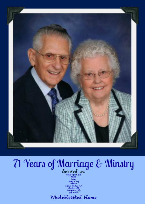 71 Years of Marriage and Ministry
