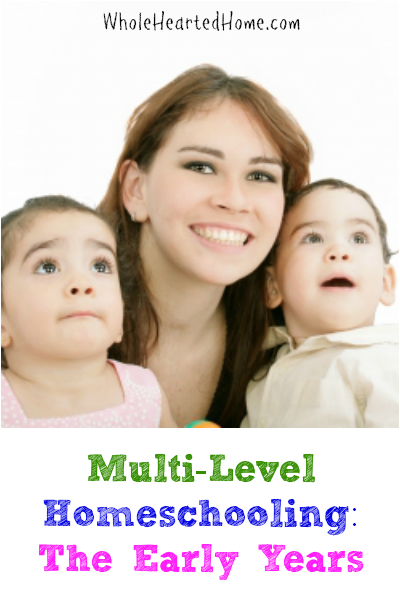 Multi-Level Homeschooling: The Early Years {Blessed At Home}