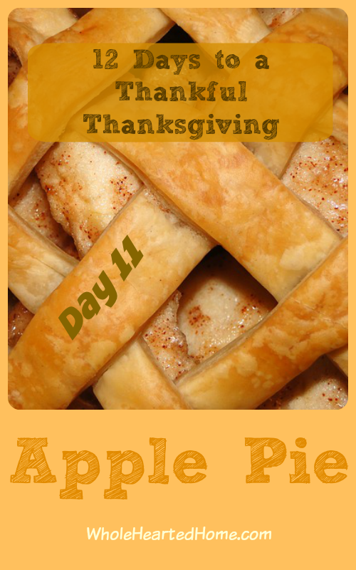 12 Days to a Thankful Thanksgiving {Day 11: Apple Pie}