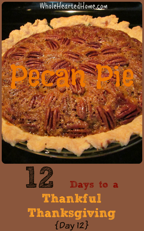 12 Days to a Thankful Thanksgiving {Day 12: Pecan Pie}