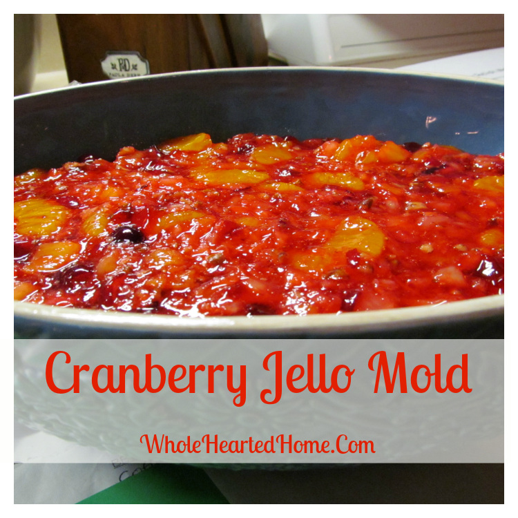 12 Days to a Thankful Thanksgiving {Day 10: Cranberry Jello Mold}
