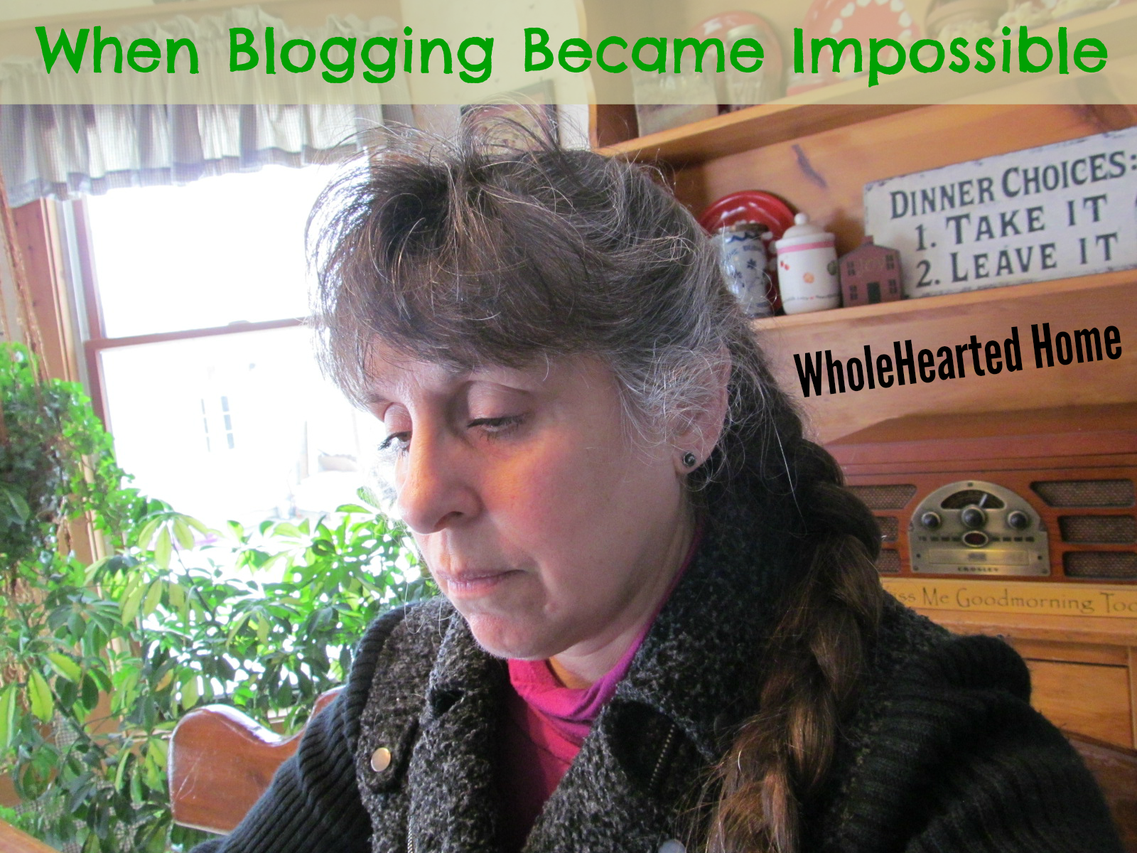 When Blogging Became Impossible + WholeHearted Wednesday #132