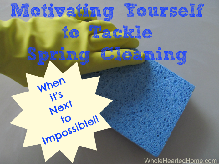 Motivating Yourself to Tackle Spring Cleaning 2