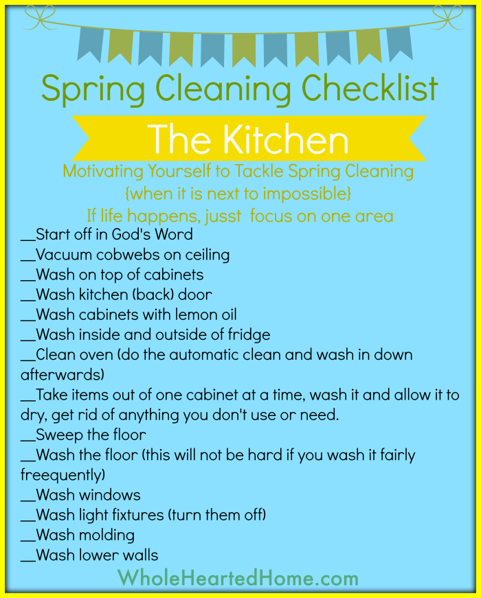 Spring Cleaning Checklist - Kitchen