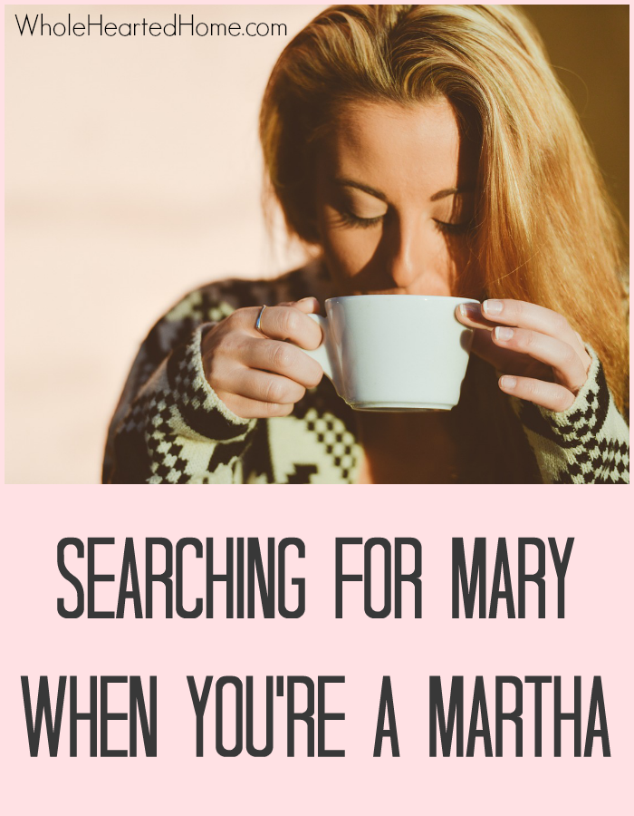 Searching for Mary When You're A Martha