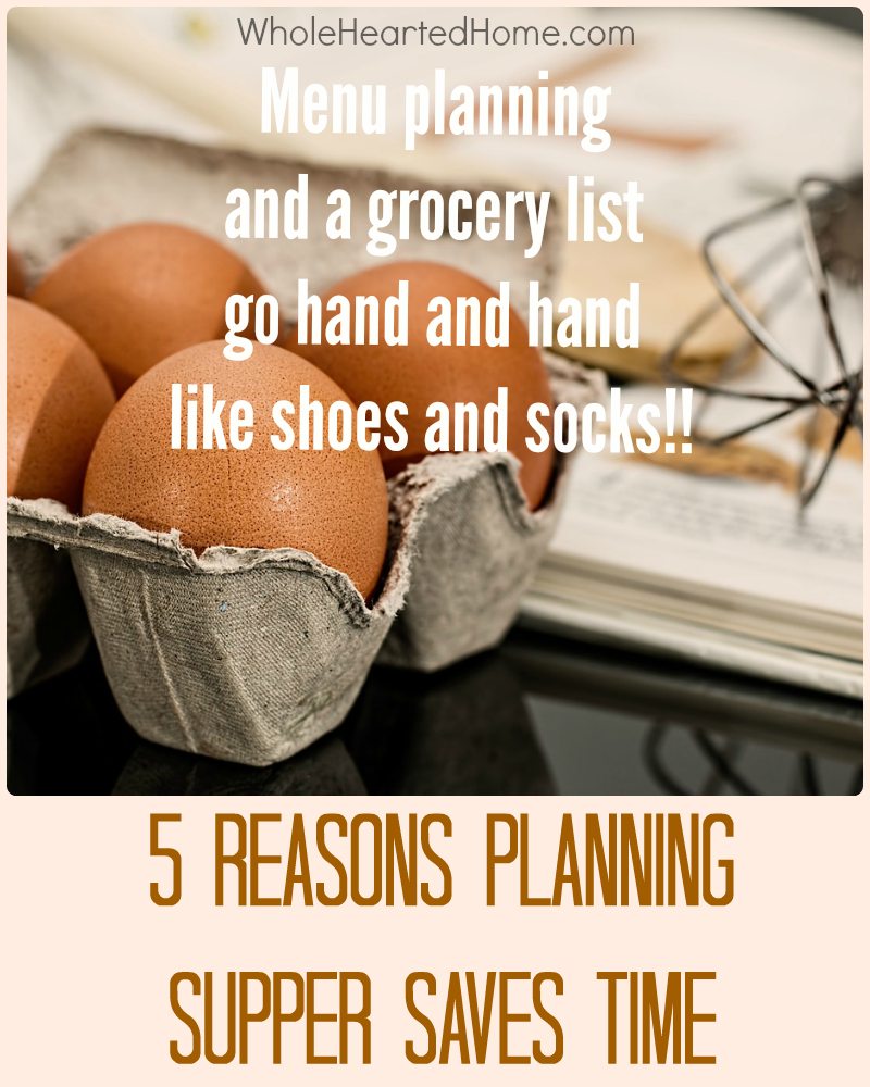 5 Reasons Planning Supper Saves Time