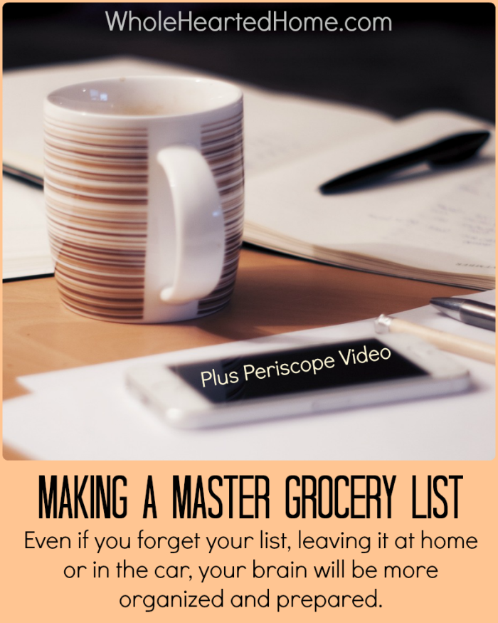 Making A Master Grocery List