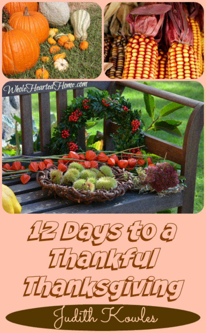 12 Days to a Thankful Thanksgiving by Judith