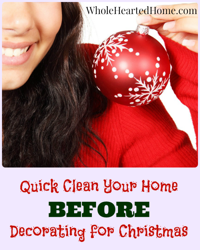 Quick Clean Your Home Before Decorating for Christmas - Pinterest