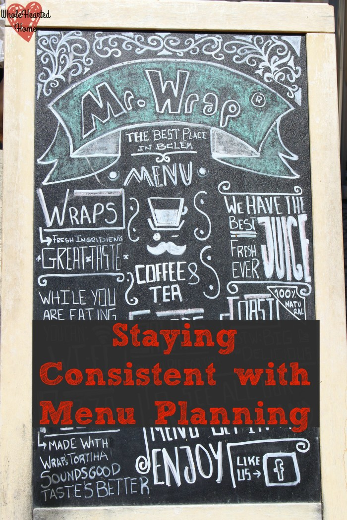 Staying Consistent with Menu Planning 1