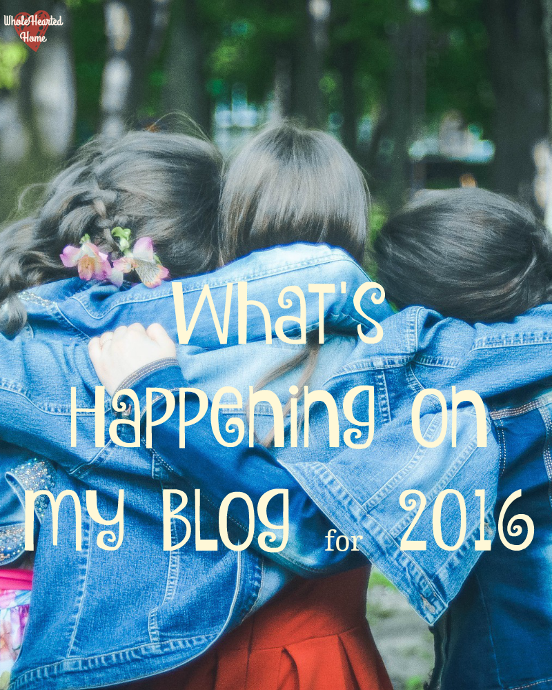 What's Happening on My Blog for 2016