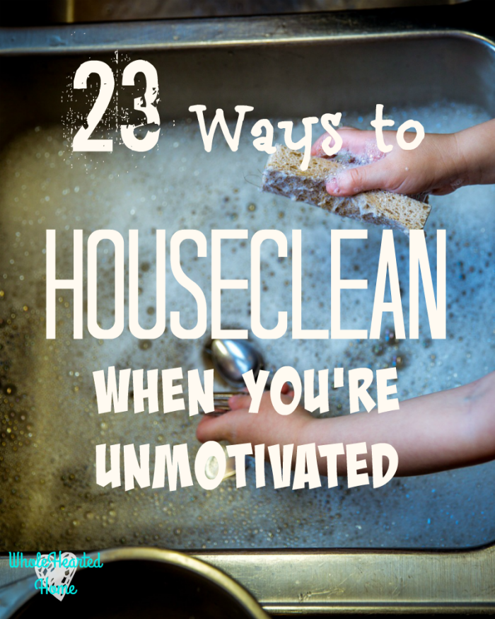 23 Ways to Houseclean