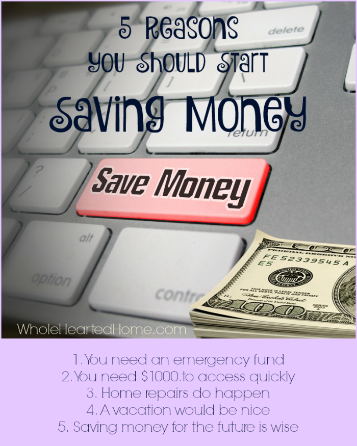 5 Reasons You Should Start Saving Money