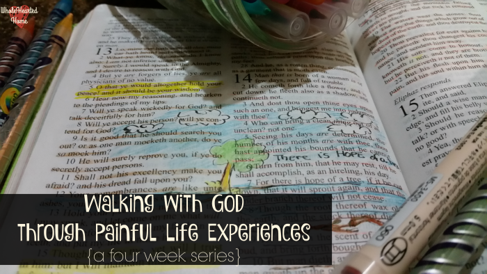 Walking with God through Painful Life Experiences {a four week series} Header