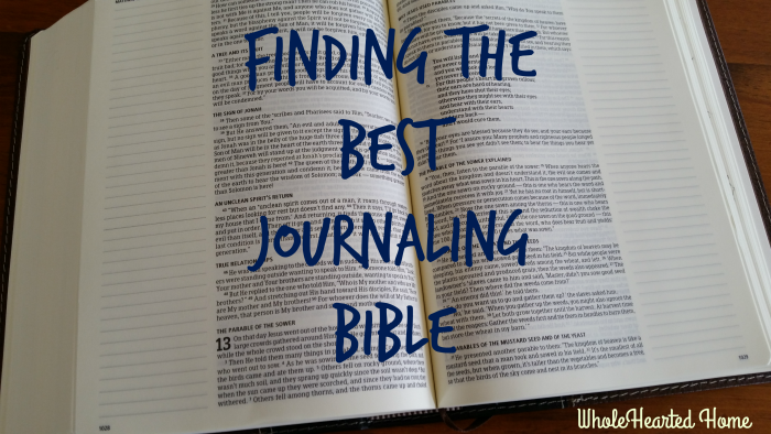 Finding the Best Journaling Bible 1