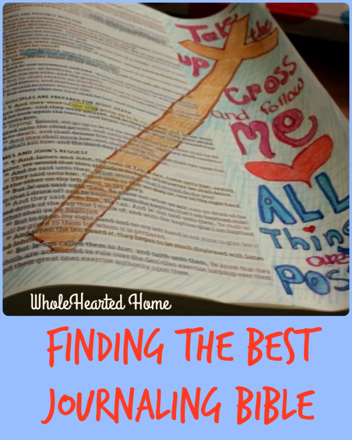 Finding the Best Journaling Bible 5