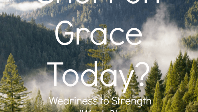 Are You Short on Grace Today? Weariness to Strength {Week 3}