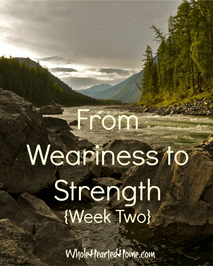 From Weariness to Strength Week Two (1)