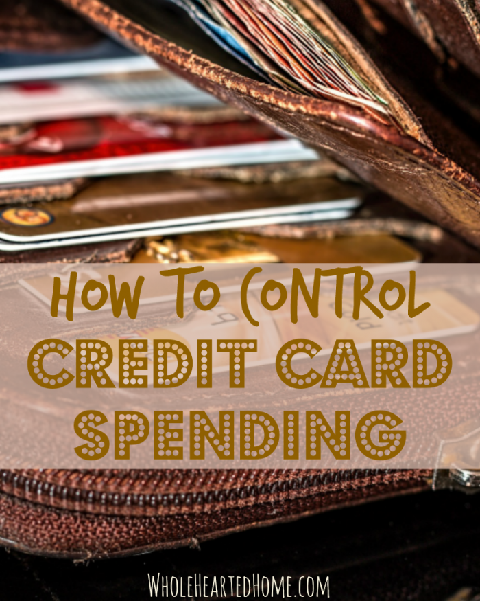 How To Control Credit Card Spending