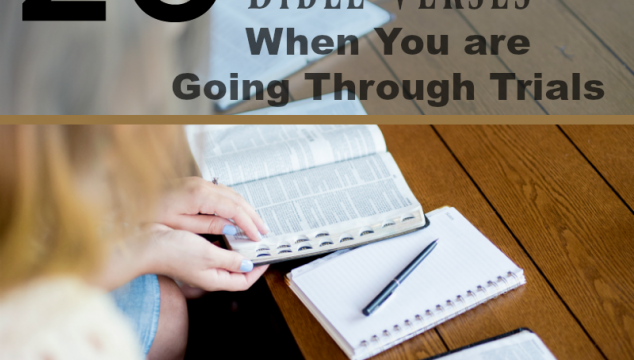 20 Comforting Bible Verses When You are Going Through Trials
